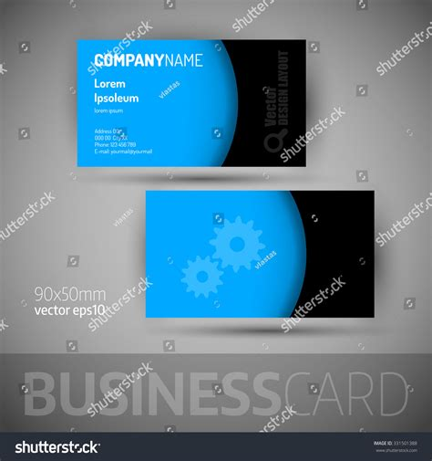 business card template sample texts elegant stock vector