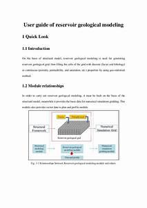User Guide Of Reservoir Geological Modeling V2 2 0