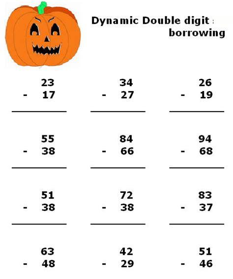 halloween math worksheets  kindergarten  elementary