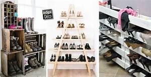 Idee Rangement Chaussure : rangement chaussures original voici 20 id es r cup ~ Teatrodelosmanantiales.com Idées de Décoration