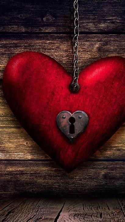 Heart 4k Wood Lock Key Iphone Wallpapers