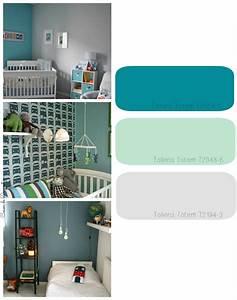 beautiful bleu turquoise chambre bebe photos ridgewayng With chambre garcon bleu turquoise
