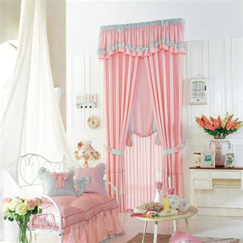 pink polyester plaid curtain for room