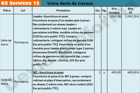 ks services 13 prix devis r 233 novation total d une salle de bains