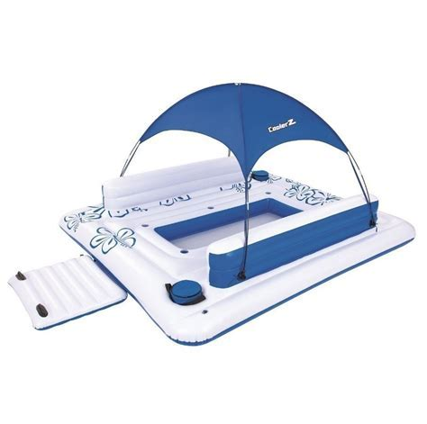 Inflatable Floating Island Party Lounge Float Pool Raft