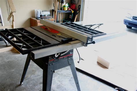 retrofitting  delta  fence   craftsman table