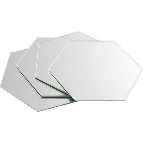 faience cuisine leroy merlin lot de 4 miroirs non lumineux adhésifs hexagonaux l 15 x l
