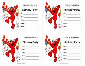 elmo birthday invitations free printable With elmo template for invitations