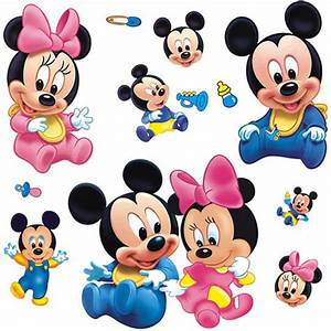 Baby Minnie and Mickey Mouse