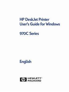 Hp Deskjet 970 User Guide