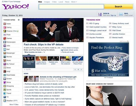 yahoo launches  home page design