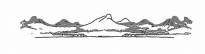 Mountain Range Clipart Clip Horizon Mountains Vector