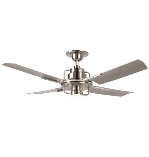 silver blade ceiling fan peregrine ceiling fan with led brushed nickel silver