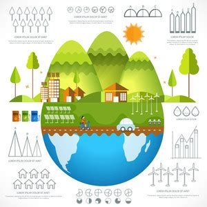 download free templates ecological icons tree after effects big set of various ecological infographic elements with