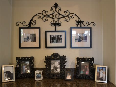 therapy    diy wrought iron picture hanger  upcycled frames