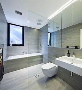 les 25 meilleures idees de la categorie salle de bains With porte de douche coulissante avec vasque salle de bain beton ciré