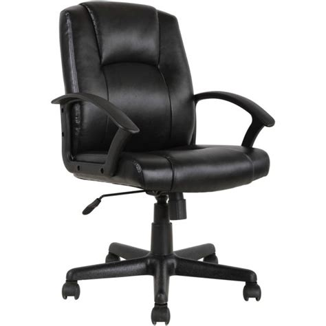 desk chairs walmart mainstays mid back leather office chair black walmart