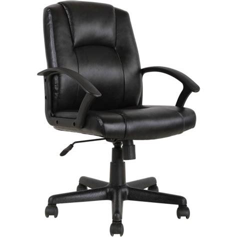 desk chair walmart mainstays mid back leather office chair black walmart
