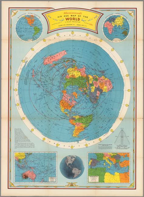Air age map of the world. A polar projection - David ...