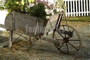 Vintage Wooden Flower Cart