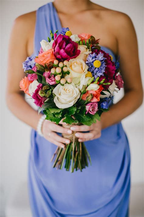 A Rainbow Of Pretty 21 Chic Colorful Bridal Bouquets