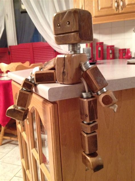 scrap wood robot decoration  kids room wood projects