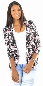 Blazer Femme Fleuri : la veste fleurie 60 id es comment la porter ~ Melissatoandfro.com Idées de Décoration
