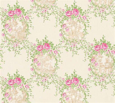 cottage style wallpaper wallpaper cottage style white green gloss as creation 34499 2