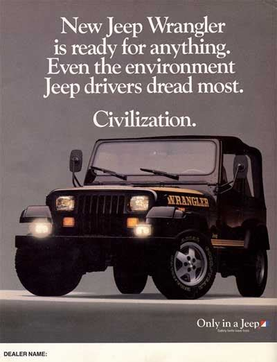 jeep wrangler ads 1988 jeep wrangler ad jeep jeep pinterest