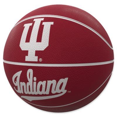 indiana university mascot official size rubber basketball