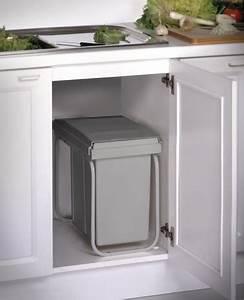 Conteneur Poubelle Brico Depot : poubelle pour tri s lectif grise 20 l l 269 cm p 445 mm brico d p t ~ Melissatoandfro.com Idées de Décoration