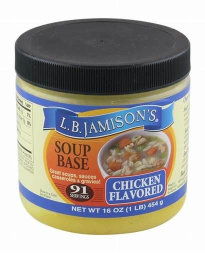 Soup Base Chicken Jamison Flavored Nutrition Ingredients