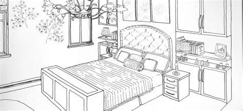 coloriage chambre dessin chambre perspective chaios com
