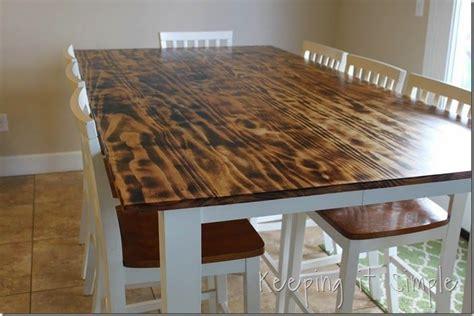 love  diy dining table top  burnt wood shou sugi