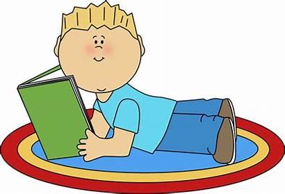 Reading Clipart Clip Books Children Library Boy