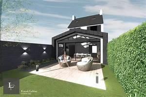 extension bois par franck labbay architecte morbihan With projet d extension maison
