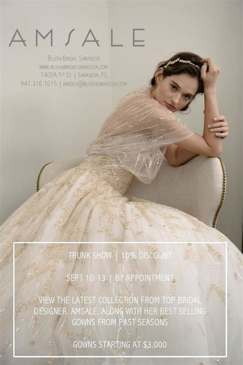 Sarasota Wedding Dress Bridal Trunk Show September 2015