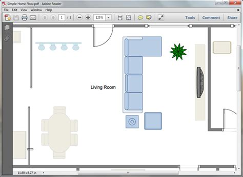 living room plan templates