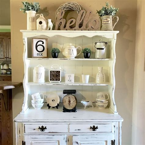 dining room hutch ideas 25 best ideas about hutch decorating on hutch