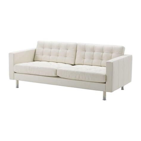 ikea canape blanc landskrona three seat sofa grann bomstad white metal ikea