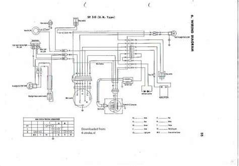 wiring diagram honda dax honda st50 uk wiring schematic honda 4 stroke net all the data for your honda motorcycle and