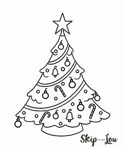 How To Draw A Christmas Tree Illustration Step By Step