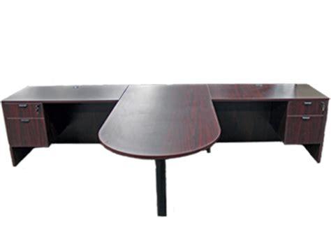 two person peninsula desk quantity