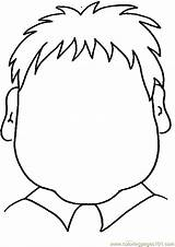 Blank Face Coloring Pages Head Boy Faces Printable Template Child Getcoloringpages Print Body Drawing Cara Type sketch template