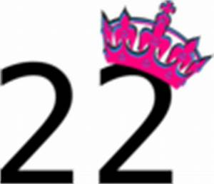 Pink Tilted Tiara And Number 22 Clip Art at Clker.com ...