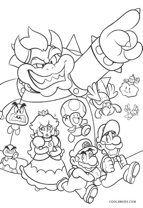 printable mario coloring pages  kids