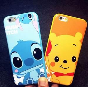 Aliexpress com : Buy Cute Stitch Winnie Case For Coque iPhone 6 Plus Case Soft TPU Silicone