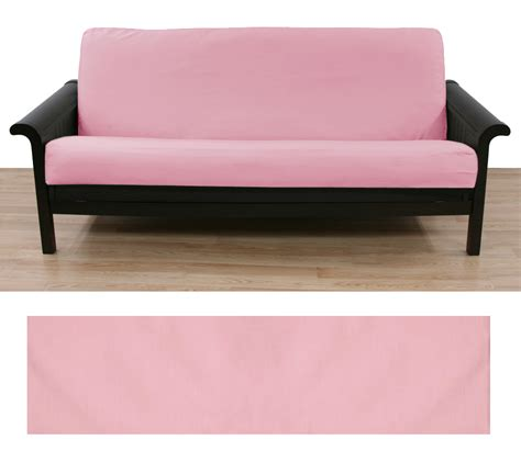 Light Pink Futon Cover by Solid Light Pink Futon Cover