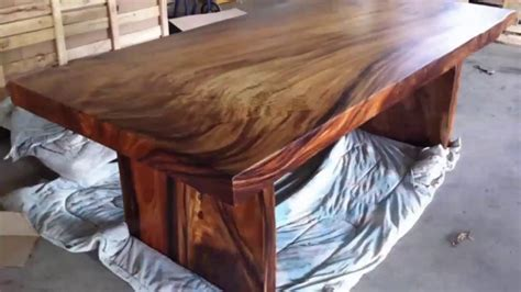 Natural Wood Slab Dining Table For Your Home Black Wooden