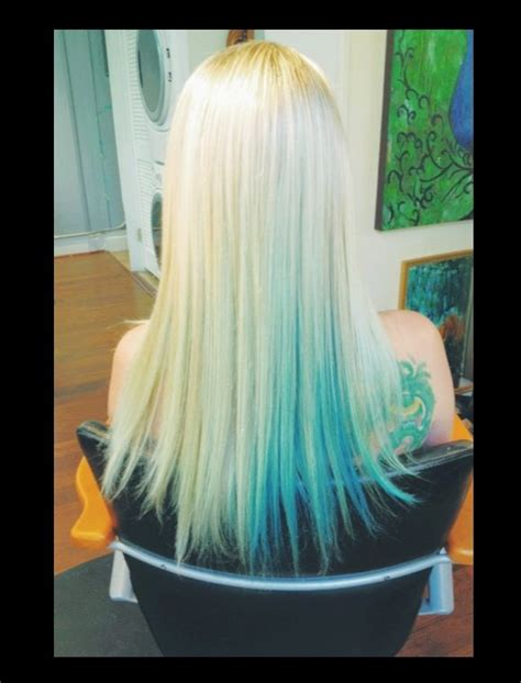 Platinum Blonde With Turquoise Hair Pinterest Pink